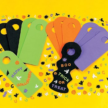 Design Your Own Spooky Halloween Doorknob Hangers - Crafts for Kids & Design Your Own -