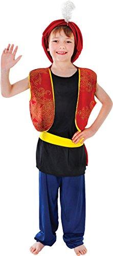 [Arabic Genie Aladdin Boy Fancy Dress Costume Large] (Aladdin Costume For Boy)