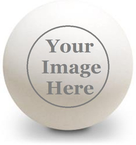Infusion Custom Logo Ping Pong Balls, 24 White Table Tennis Balls