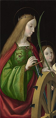 (Oil Painting 'Antonio De Solario Saint Catherine Of Alexandria (1) ' Printing On Perfect Effect Canvas , 18 X 38 Inch / 46 X 96 Cm ,the Best Bathroom Decoration)