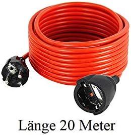 Rallonge 5 m 10 m 15 m 20 m 25 m 30 m Protection IP44 c/âble /électrique