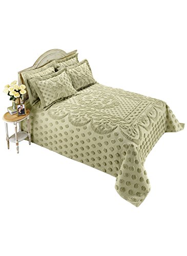 Carol Wright Gifts Chenille Bedspread – King, Color Sage, Sage