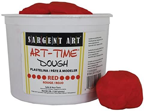 Sargent Art 85-3320 3-Pound Art-Time Dough, Red (Playdoh People)