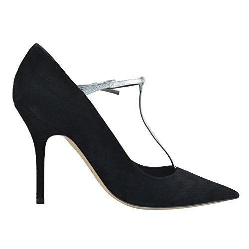 Women's 8 Christian Dior 38 Strap Shoes Toe Black Suede IT Pumps Pointed US pUSOgwq
