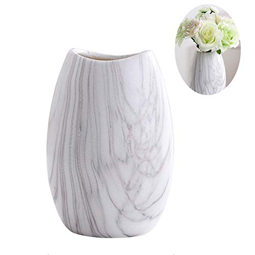 white marble flower pot - 6