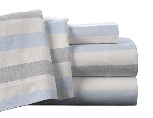Pointehaven Flannel Deep Pocket Sheet Set with Oversized Fla