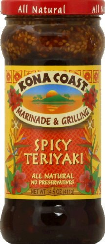 Kona Coast   Sauce Teriyaki Spicy  14 5 Ounce  Pack Of 6
