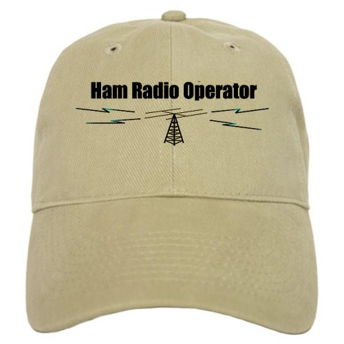 CafePress Ham Radio Operator Baseball Cap with Adjustable Closure, Unique Printed Baseball Hat Khaki