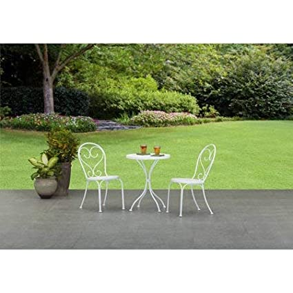 Super Small Space Scroll 3 Piece Chairs Table Outdoor Furniture Bistro Set White Seats 2 Home Interior And Landscaping Mentranervesignezvosmurscom