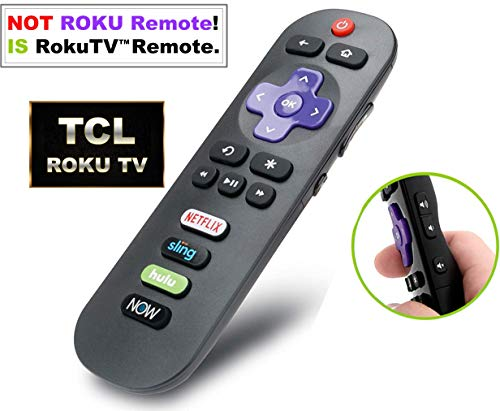 Standard IR Remote for TCL Roku TV with Updated Shortcuts eg. Netflix DirecTV Now【NOT for ROKU Stick or ROKU Box Player】