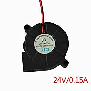HICTOP DC 24V Connector Brushless Cooling Turbo Blower Fan 50x15mm Cooler 3D Printer Parts (2 Packs) by HIC Technology