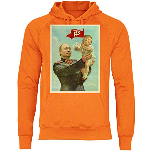 Con Putin Wowshirt Trump Cappuccio Cccp Sovietica Felpa Orange Urss Uomo 5WrnnfvAx