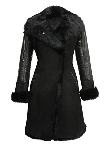 - Luxury Women's Winter Real Sheepskin Shearling Merino Toscana Leather Coat (Large 12)