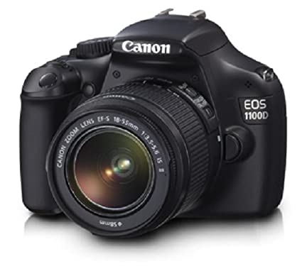 Canon EOS 1100D 12.2MP Digital SLR Camera (Black) with EF-S 18-55 IS + EF-S 55-250 IS Twin Lens Kit, 8GB SD Card and Camera Bag