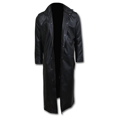 Discount Spiral - Mens - WOLF CHI - Gothic Trench Coat PU-Leather with Full Zip for sale h4ubc1r2