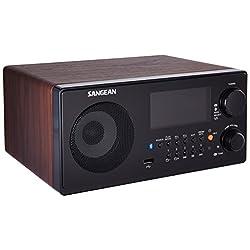 Sangean WR-22WL AM/FM-RDS/Bluetooth/USB Table-Top Digital Tuning Receiver (Dark Walnut)