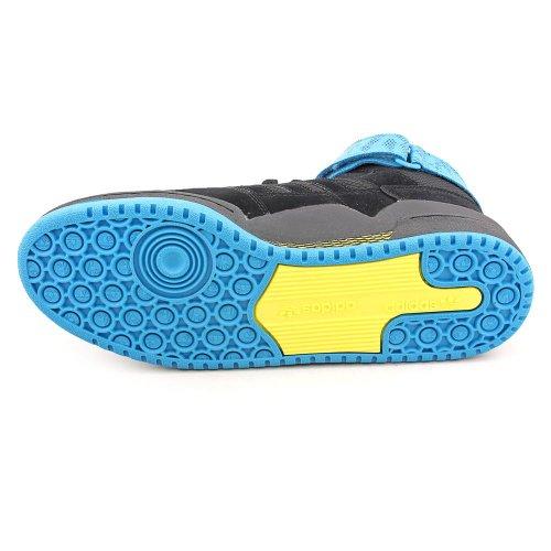 Adidas Mens Il Forum Mid Sneaker Black1, Black1, Turchese