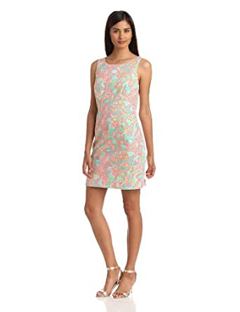 Lilly Pulitzer Women's Delia Scoop Back Dress (6, Turquoise)
