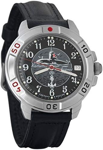 Vostok Komandirskie Military Russian Watch U-boot Submarine Black 2414 431831