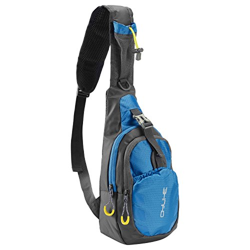QYUHE Sling Chest Bag Casual Shoulder Backpack Cross Body Daypack with Adjustable Shoulder Strap for Cycling Hiking Camping Travel (Blue) (Pack Performance Sling)