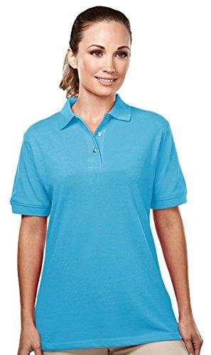 Tri-mountain Womens 60/40 easy care pique golf shirt. 092 - AQUATIC (Easy Care Pique Polo)