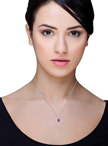 Miore - SAS009N - Collier - Femme - Argent 925/1000 4.62 Gr - Saphir