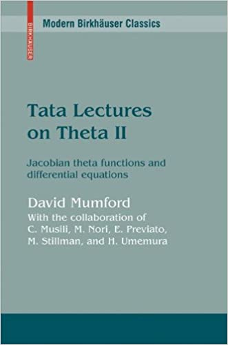 Tata Lectures on Theta II: Jacobian theta functions and differential equations: Jacobean Theta Functions and Differential Equations: 2 (Progress in Mathematics)