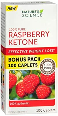 Nature's Science 100% Pure Raspberry Ketone - 100 caplets