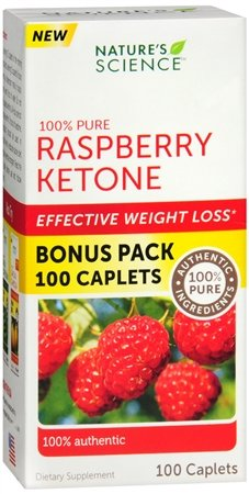 Nature's Science 100% Pure Raspberry Ketone - 100 caplets