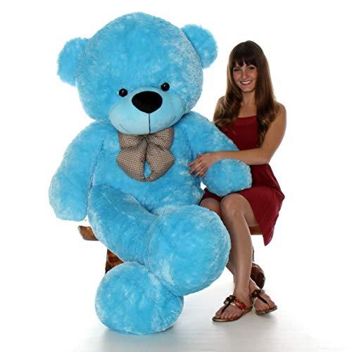 Giant Teddy 6 Foot Life Size Bear Sky Blue Huge Stuffed Animal Teddybear Happy Cuddles ()
