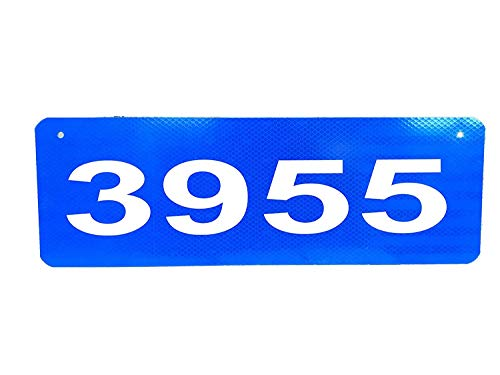 mdrqzdfh Eletina intern 2.5 Mailbox Numbers , Horizontal Blue 911 Sign with 2.5 3 Or 4 Numbers (4), House Numbers 3 in
