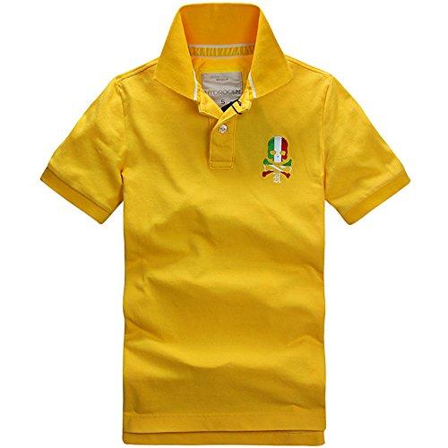 HYDROGEN ポロシャツ メンズ ゴルフ コットン 綿 100% 半袖 夏 刺繍 7566 [並行輸入品]