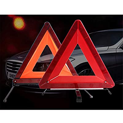 VOSAREA Warning Triangle DOT,Folding Emergency Stop Car Failure Red Tripod Reflectors Strips Dangerous Triangle Safety Warning Signs Car Accessories(Red): Automotive