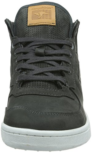 KangaROOS Full-Court-Mid-Nubuck - Zapatillas de cuero para hombre gris - Grau (dk.grey 230)