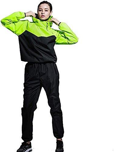 TDB サウナスーツ 上下セット 発汗 スポーツウェア バーストウェア セットアップ トレーニングウェア フィットネス エクササイズ ジョギング ウォーキング スポーツ ヨガ