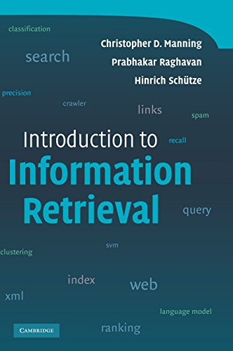 Introduction to Information Retrieval by Brand: Cambridge University Press