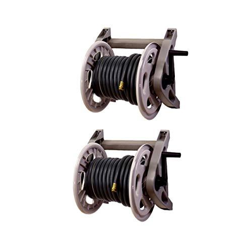 Suncast Hose Handler 200-Foot Capacity Wall-Mounted Garden Hose Reel (2 Pack)