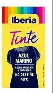 IBERIA TINTE TEXTIL AZUL MARINO 70 gr: Amazon.es: Belleza
