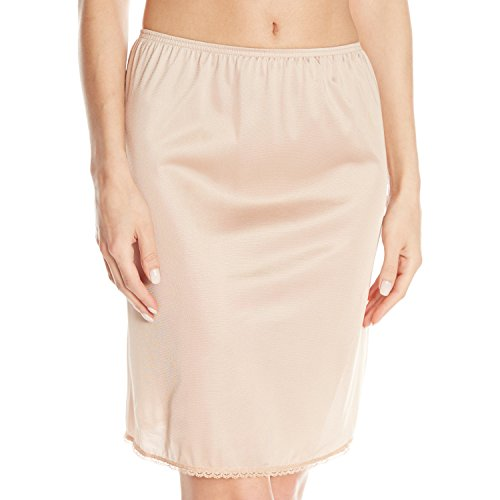 VASSARETTE Women's Tailored Anti-Static Half Slip 11122, VASS Latte-20 inch, Medium