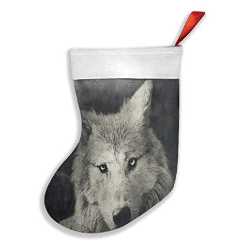 Usvbzd Custom Christmas Stockings Halloween Night Wolf Special Christmas Decor Socks]()