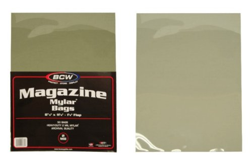 (500) Magazine Size Mylar Sleeves - 2 Mil Thick - BCW