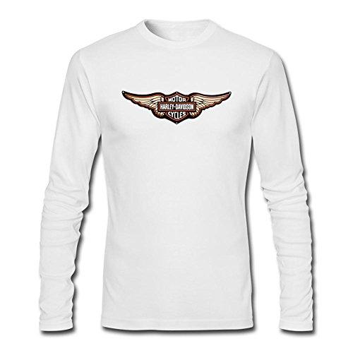 VEBLEN Men's Harley Davidson AMA Long Sleeve Cotton T Shirt