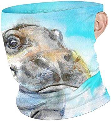 フェイスカバー Uvカット ネックガード 冷感 夏用 日焼け防止 飛沫防止 耳かけタイプ レディース メンズ Baby Hippo