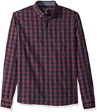 Van Heusen Men's Never Tuck Slim Fit Shirt,Blue Thunder,X-Large