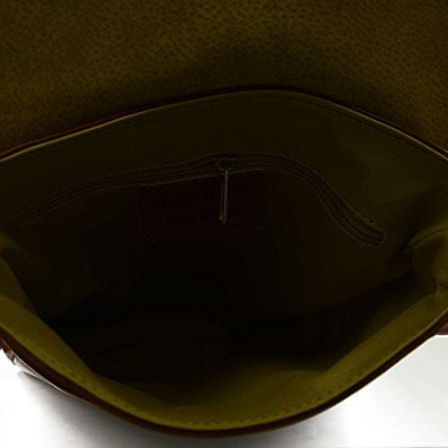 Bolso Para Hombre En Piel Verdadera Para Tableta Y Ipad Color Cognac - Peleteria Echa En Italia - Bolso Hombre