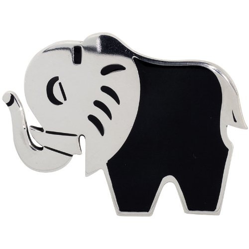 Sterling Silver Elephant Brooch Pin, 2 1/8 inch (54 mm) ()