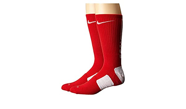 Calcetines Nike Elite Basketball Crew Small (para mujeres, talla 4-6) Red.White: Amazon.es: Ropa y accesorios