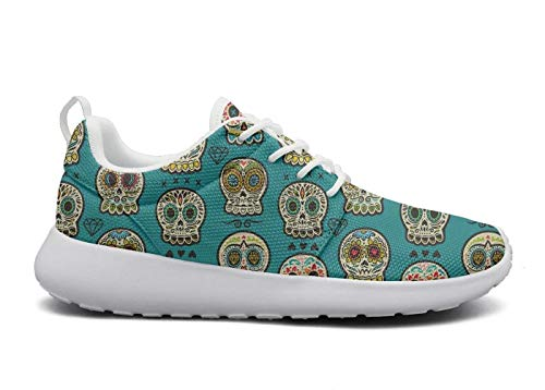 Day Casual Sneakers Shoes Day AKDJDS Mexican Mexican of Skull Womens Running Shoe Skull The Dead qHFACpxn