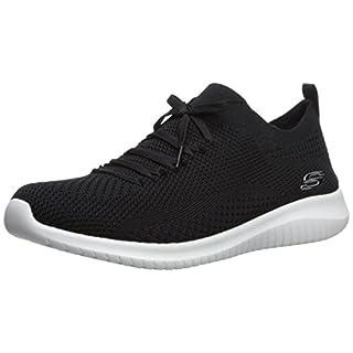 Skechers Sport Women's Ultra Flex Statements Sneaker,black/white,5.5 M US