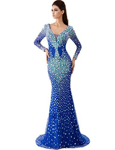 Mehrfarbig Damen Mehrfarbig Blau Königsblau Schlauch Kleid Engerla dFnvtqt